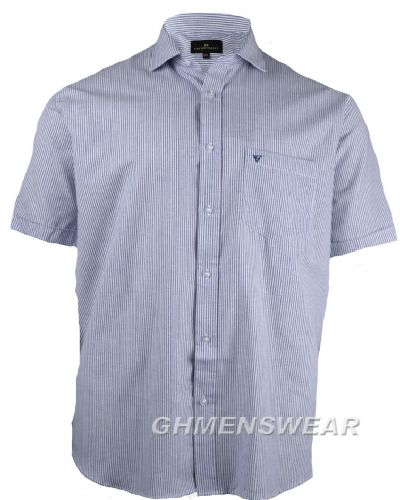Cotton Valley Spread Collar Stripe Shirt